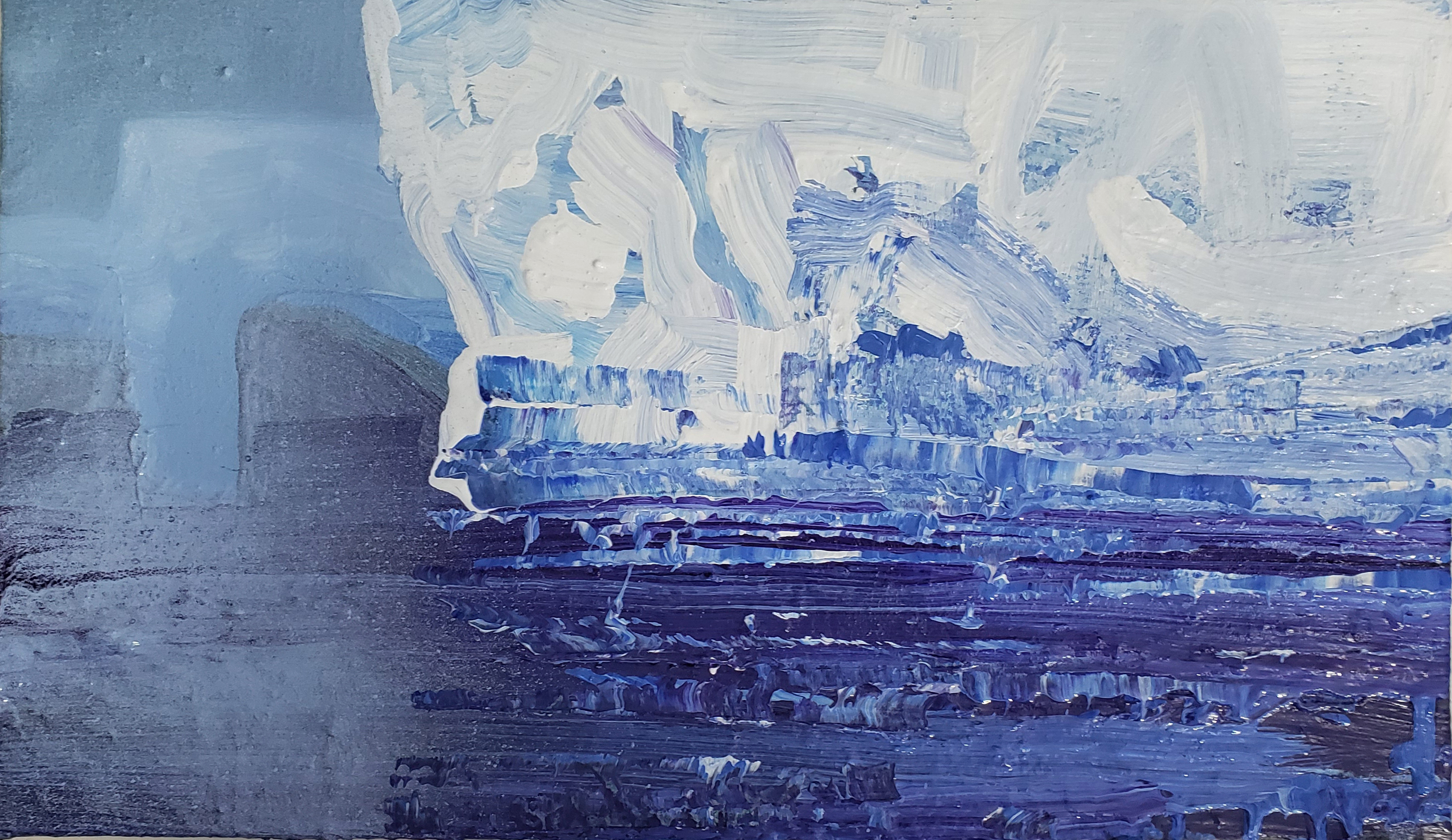 Antarctic Blues.  41x71cm.  $750