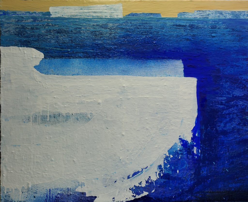 Radiantly Antarctic.  120x150cm.  $3850